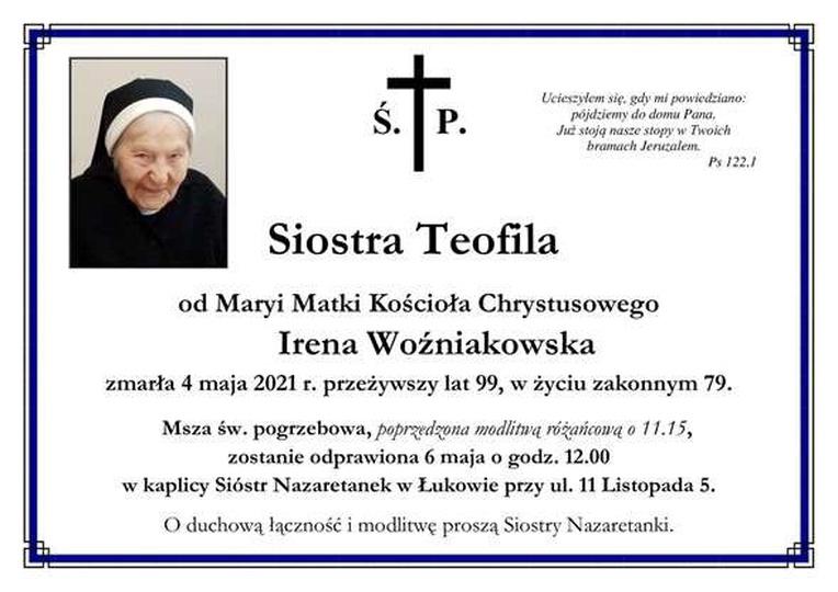 Siostra Teofila była osobą wielkiej duchowej kultury, otwartą na ludzkie sprawy ..., stare zdjęcia -
