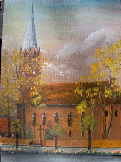 Kościół pw.Chrystusa Króla - obraz H. Reifa., stare zdjęcia -
