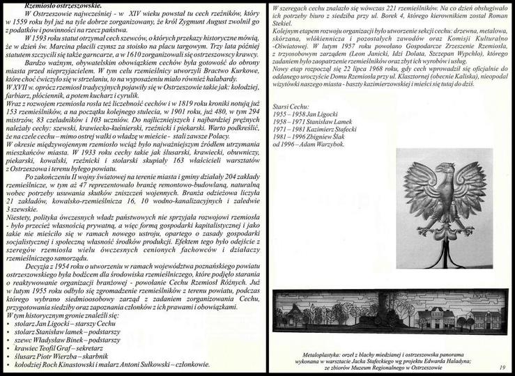"""Krótka historia ostrzeszowskiego rzemiosła. Fragment wydawnictwa """"Rzemieślnicze..., stare zdjęcia -"""