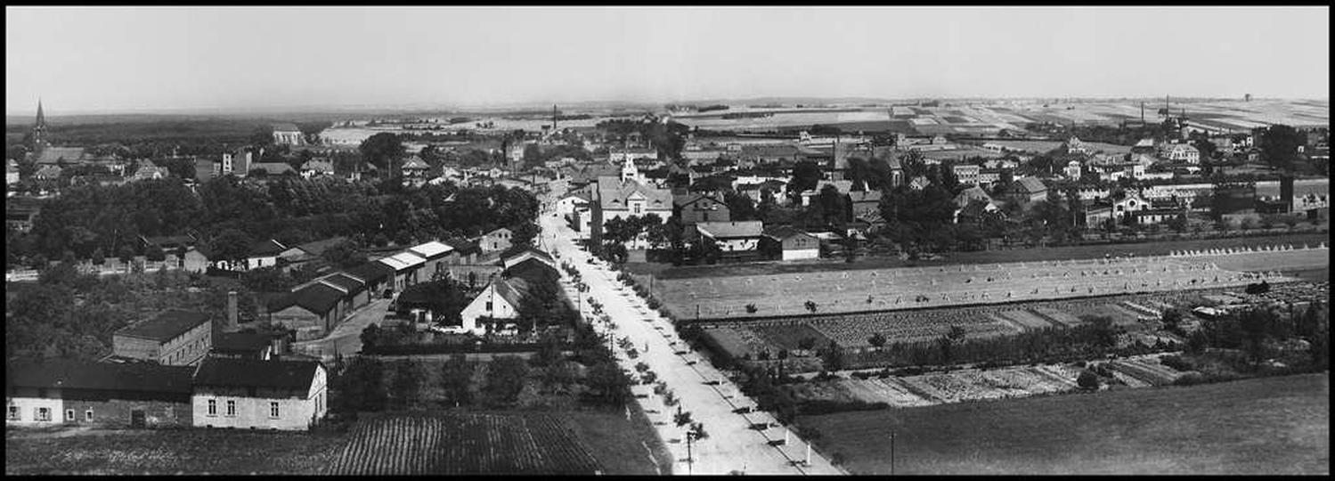 Zdjęcie zrobione z wieży ciśnień ok. 1935 roku. Ta przepiękna panorama jest jak ... -