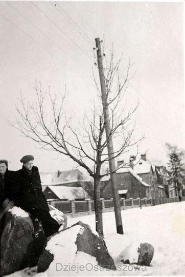 Lata pięćdziesiąte, ulica Piastowska., stare zdjęcia -