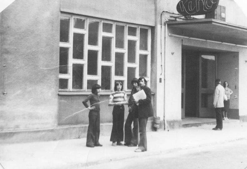 """Kino """"Lotnik"""", rok 1974.  Za zdjęcie dziękujemy Januszowi Suwiczakowi. -"""