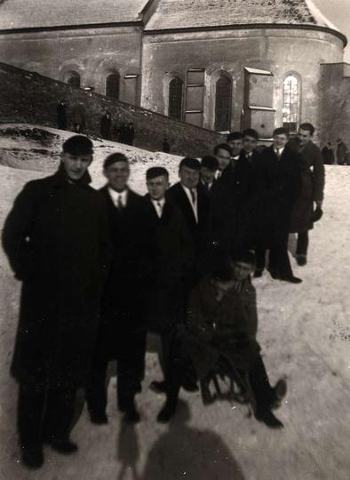 Na stoku czyli klasztor zimą. Lata trzydzieste. Ze zbiorów Włodzimierza Śliwińs..., stare zdjęcia -