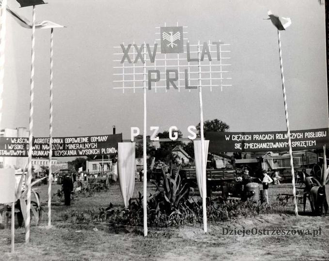 25 lat PRL. Powiatowa Wystawa Rolnicza w Ostrzeszowie. 14-16. 09. 1969. Wystawa..., stare zdjęcia -