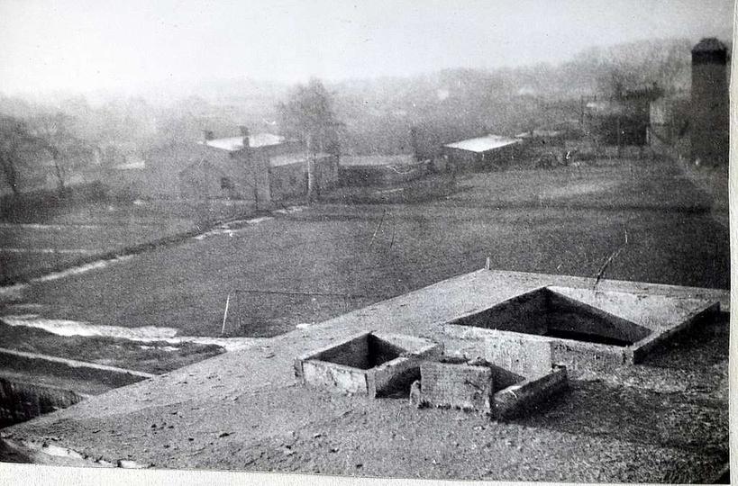 Szkoła Podstawowa nr 1. Październik 1963 roku, budowa szkoły, widok z dachu w k..., stare zdjęcia -