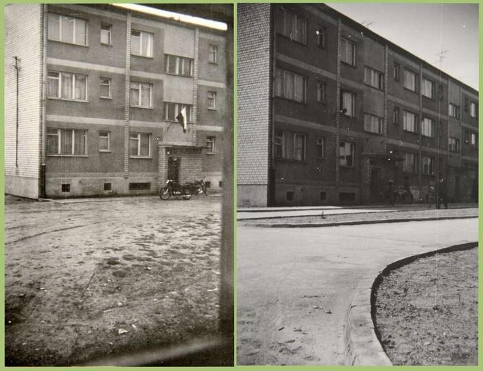 Osiedle M. Nowotki (Zamkowe) Budowę bloku mieszkalnego nr 4, dwupiętrowego na 2..., stare zdjęcia -