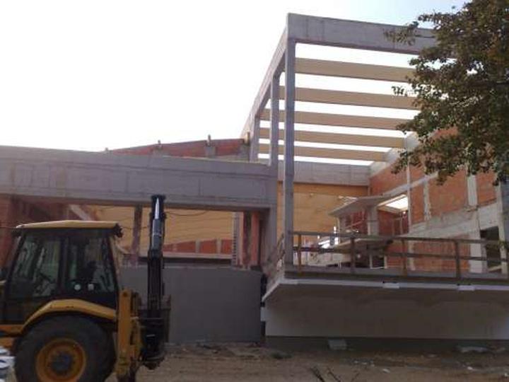 Budowa dachu, stare zdjęcia -