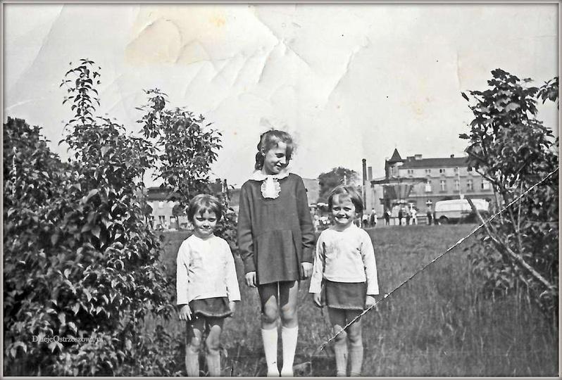Plac Borek w Ostrzeszowie. Koniec lat sześćdziesiątych, do Ostrzeszowa zawitało..., stare zdjęcia -