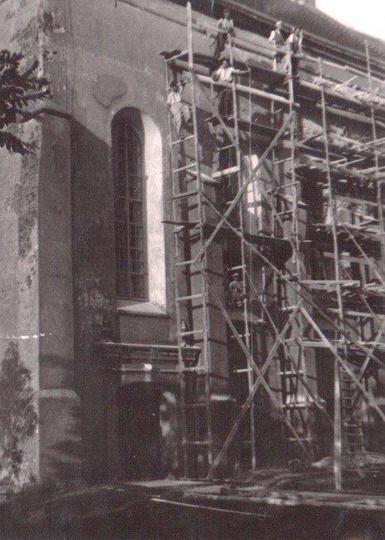 Remont klasztoru w latach 1946-1948., stare zdjęcia -