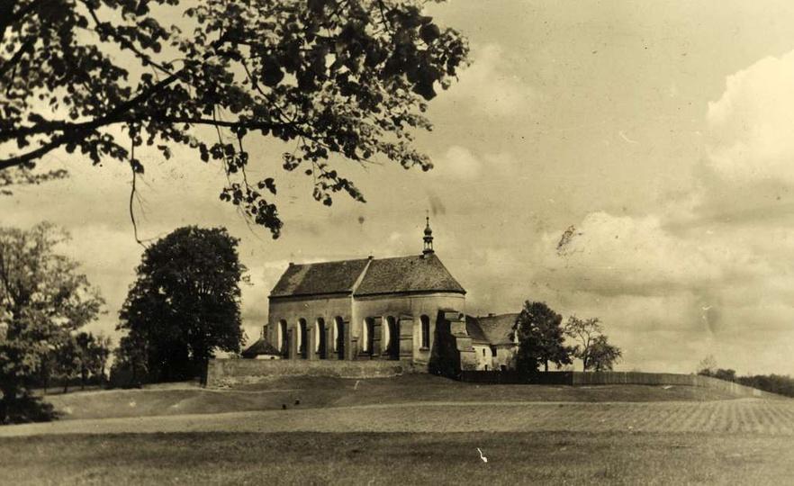 Pobernardyński zespół klasztorny, połowa lat czterdziestych., stare zdjęcia -