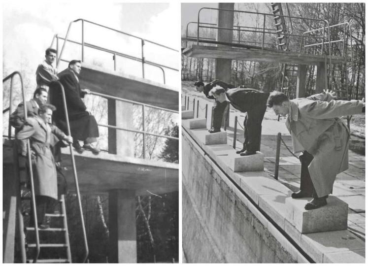 Ostrzeszowski basen już po modernizacji, prawdopodobnie koniec lat pięćdziesiąty..., stare zdjęcia -