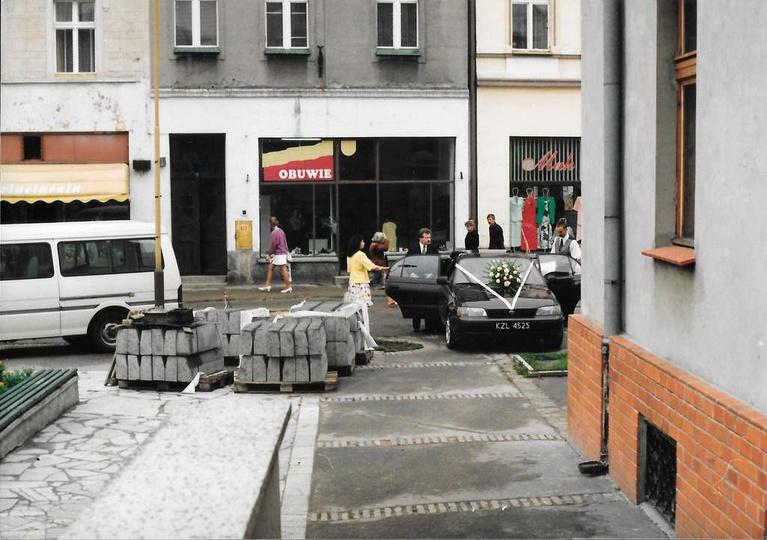 26.07.1997 rok, rozpoczyna się przebudowa rynku i remont ratusza. Nadciąga wiec ..., stare zdjęcia -