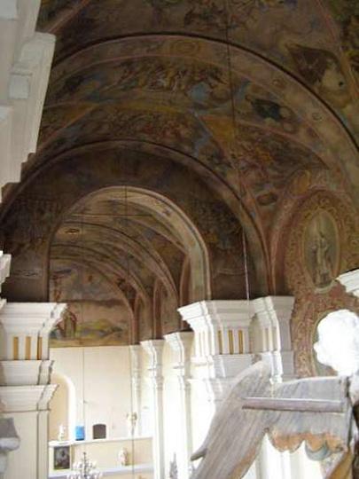 Widok z chóru nad ołtarzem, stare zdjęcia -