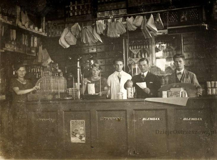 Lata trzydzieste, sklep Ignacego Matysika przy placu Borek 5. Piękna fotografia ..., stare zdjęcia -