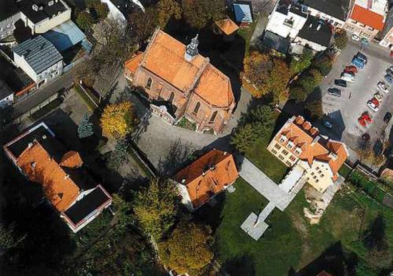 Widok z lotu ptaka na Kościół Farny, stare zdjęcia -