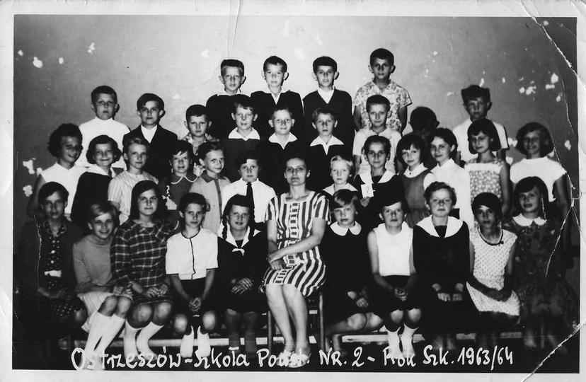 Szkoła Podstawowa nr 2. Rok szkolny 1963/64., stare zdjęcia -