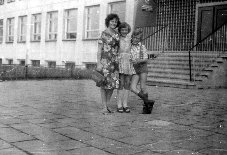 Szkoła Podstawowa nr 1, koniec lat siedemdziesiątych., stare zdjęcia -