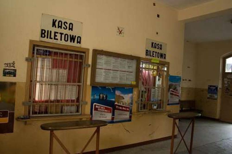 Wnętrze dworca PKP  - 15 maja 2009, stare zdjęcia -