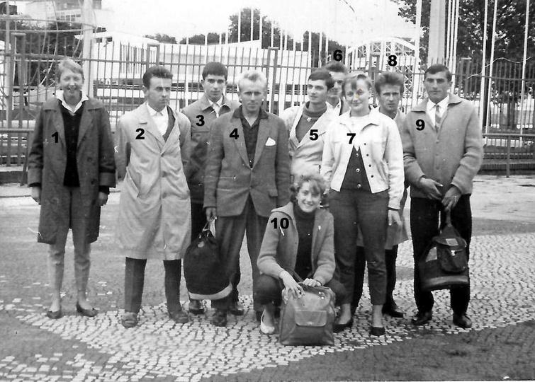 Wojewódzkie Biegi Narodowe, Poznań 1962 rok, Reprezentacja ostrzeszowskich lekko..., stare zdjęcia -