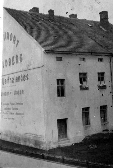 Widok z ul. Sikorskiego w kierunku Rynku, okres okupacji niemieckiej. W tym mie..., stare zdjęcia -