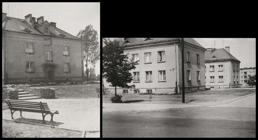 Osiedle M. Nowotki (Zamkowe) Budowę pierwszego bloku mieszkalnego nr 9 w gestii..., stare zdjęcia -