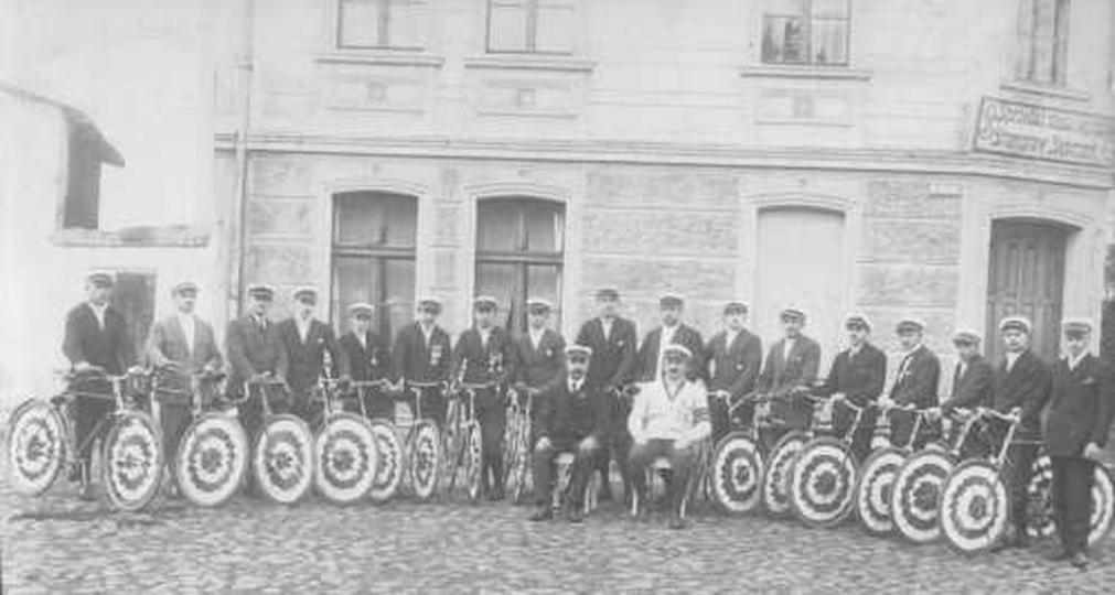 """""""Ostrzeszowscy kołownicy"""" - 10-lecie odrodzenia Polski 11.11.1928 r, stare zdjęcia -"""