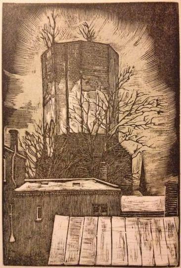 Wieża zamku Kazimierza Wielkiego w Ostrzeszowie. Antoni Serbeński, stare zdjęcia -