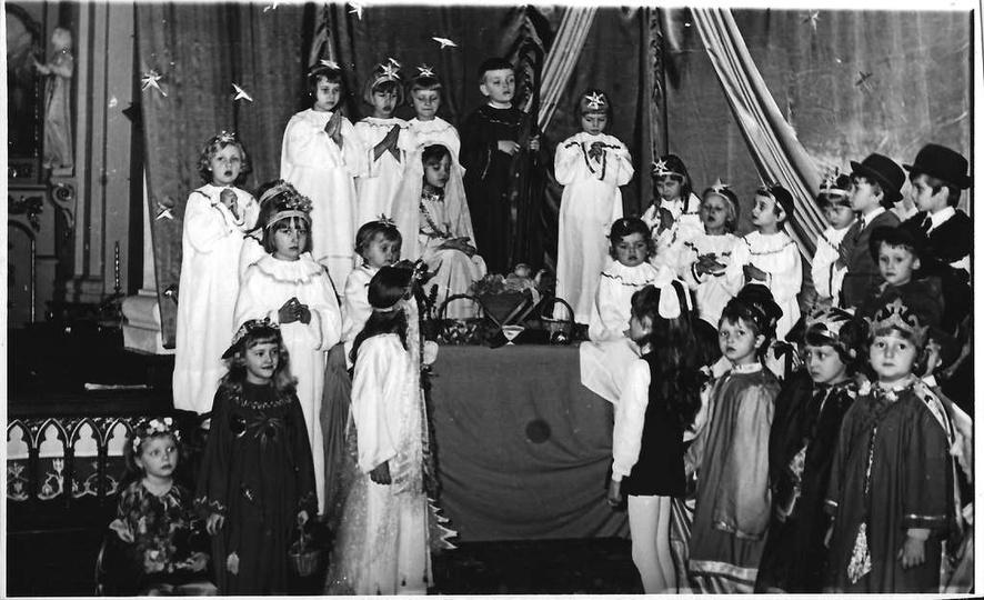 Rok ok. 1974, jasełka w klasztorku., stare zdjęcia -