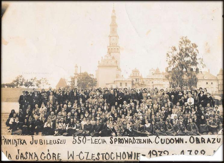 ...w podróży. Pamiątka jubileuszu 550-lecia sprowadzenia Cudownego Obrazu na Ja..., stare zdjęcia -