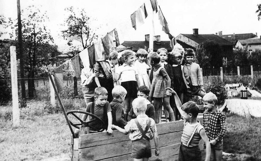Lata sześćdziesiąte, Przedszkole nr 1 przy ulicy Kościuszki, obecnie Środowiskow..., stare zdjęcia -