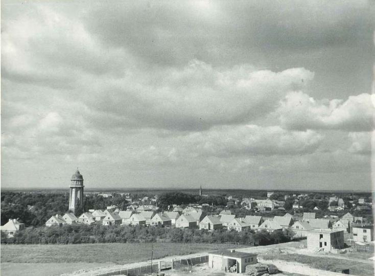 Panorama Ostrzeszowa z 1961 roku. Ze zbiorów Sebastiana Fijoła., stare zdjęcia -