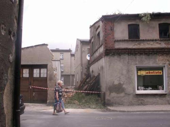 Zniszczenia po burzy - ul. Targowa, stare zdjęcia -