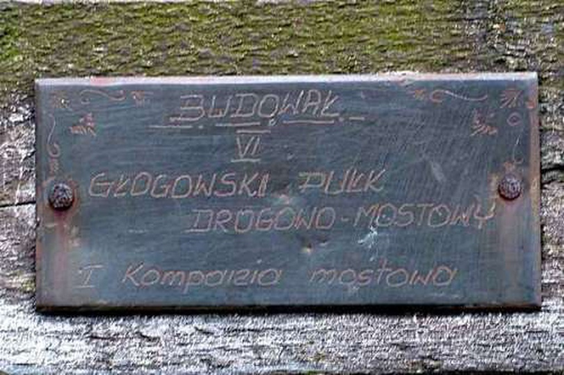 Most na rzece Prośnie między Mieleszówką, a Brzezinami; znajduje się na granicy ..., stare zdjęcia -