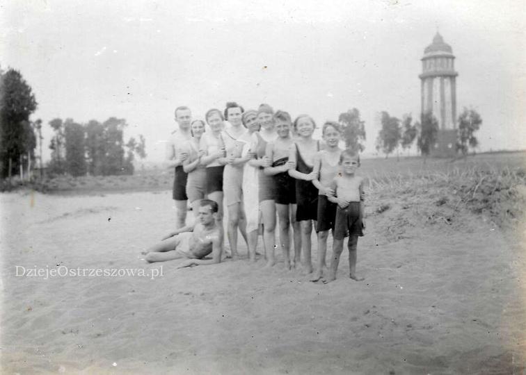 Na kąpielisku u Libchena, lata trzydzieste. Po wojnie kąpielisko jeszcze funkcjo..., stare zdjęcia -