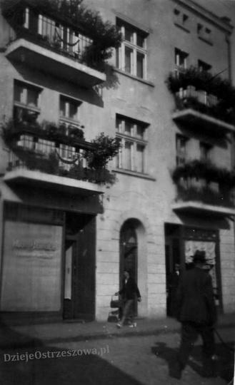 Lata trzydzieste, kamienica państwa Cemplów przy ulicy Krakowskiej (obecnie Siko..., stare zdjęcia -