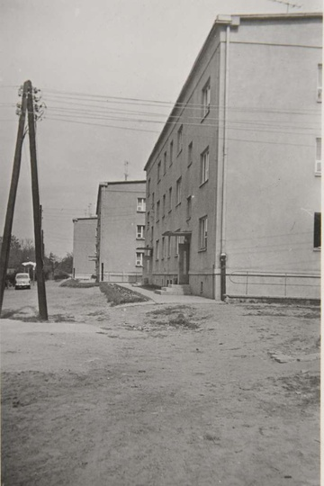 Osiedle M. Nowotki (Zamkowe). Połowa lat sześćdziesiątych, bloki nr 12, 13 i 14..., stare zdjęcia -