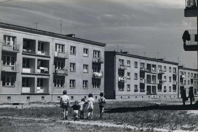 Osiedle M. Nowotki (Zamkowe). Lata siedemdziesiąte, bloki nr 12, 13 i 14. Bardz..., stare zdjęcia -