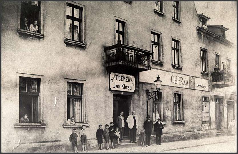 Ulica Kolejowa, dom i oberża Jana Kloze, lata międzywojenne., stare zdjęcia -