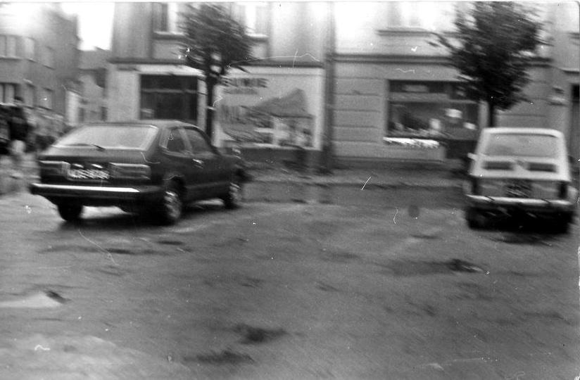 Plac Kazimierza, lata 90-te. Zdj. Zdzisław Borowiec., stare zdjęcia -