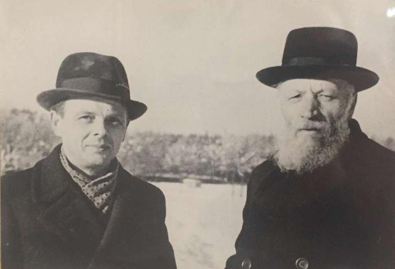 Na zdjęciu Antoni Serbeński i Roman Małyszka, stare zdjęcia -
