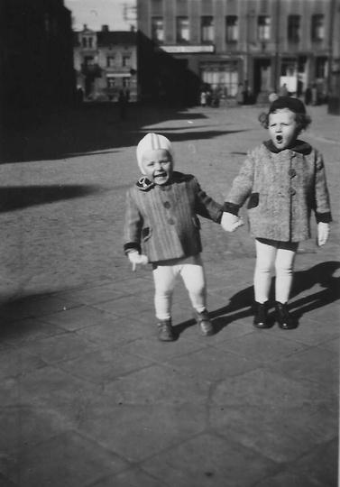 Rynek lata 50-te, widok na stronę północną., stare zdjęcia -